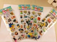 bubble toy - hot Despicable Me stick cartoon bubble stickers Educational children s Decorative Stickers toy gift Stickers Children room sticker Home