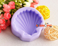 Wholesale 1pcs D Shell Shape Silicone Soap Fondant Cake Cookie Mould DIY Decorating Tool chocolate molds cooking tools bakeware Christmas