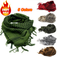 women muslim scarf - Men Winter Military Windproof Scarf Muslim Hijab Shemagh Tactical Desert Arabic Keffiyeh Scarf Cotton Thickened Women Scarf colors
