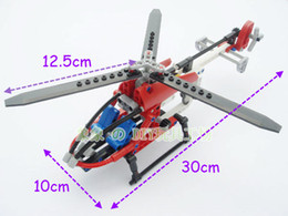 Wholesale 150pcs Set TECHNIC Whirl Ybird DIY Rescue Helicopter Plane Model Building Blocks Construction Bricks Children Gift Learning Toys