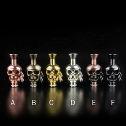 Skull drip Tips Mouth piece stainless 510 Skull Drip Tips newest Skull Mouthpiece for Vivi Nova DCT atomizer atty plume veil rose RDA clones
