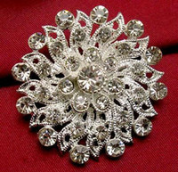Brooches alloy media - rhinestone Medium high grade silver plated with diamond brooch AAA diamond brooches hair bride wedding decoration mix color