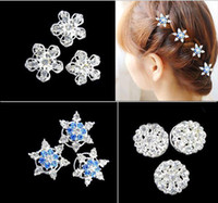 Wholesale FROZEN diamond Hair Accessories FROZEN pink hairpin Bow Barrettes Elsa Anna hairband children Girls jewelry lovely hair hair clips