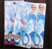 Wholesale 2014 FROZEN Cutting Supplies frozen Scissors adventures in snow and ice princess cartoon stationery scissors