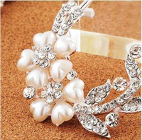spiral hair pin - hot new pearl tiaras Hair Jewelry hair Flowers Brooches Pins bridal hair accessories Pearl spiral clip wedding hair accessories