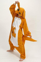 bear sleepwear - 2014 autumn kangaroo Kigurumi Pajamas Animal cosplay costume pyjamas Animal Sleepwear bear bunny Corgi panda cat wolf pikachu batman