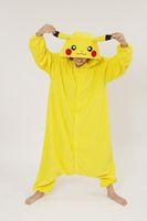 Wholesale new plus size jumpsuits Yellow Cosplay Pikachu Dress animal costume Kigurumi Pajamas Animal Pyjamas Costume Coral Fleece Animal Sleepwear