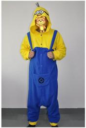 Wholesale 2014 NEW mascot despicable me animal costume Kigurumi Pajamas Animal Pyjamas Costume Coral Fleece Animal Sleepwear styles