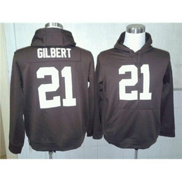 Wholesale Justin Gilbert American Football Pullover Hoodies High Quality Cheap Mens Football Uniforms Name Number Embroidered Footbal Sweaters