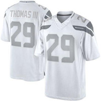 Cheap #29 Earl Thomas III White Platinum Jersey 2014 New Arrival Cheap American Football Jerseys Name Number Stitched On High Quality Sports Shirt
