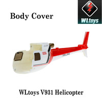rc helicopter body - Original WLToys V931 RC Helicopter Accessory Light Weight Body Cover AS350 Part Red RM1377