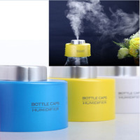 Wholesale USB Portable ABS Water Bottle Cap Humidifier DC V Office Air Diffuser Aroma Mist Maker Absorbent Filter Sticks H12078
