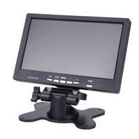 Wholesale 7 quot LED LCD P HD on DSLR Camera Monitor HDMI VGA Display Peaking Filter with Sun Shield D1387