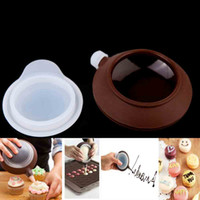 silicone cooking - Silicone Pot Sugar Paste Extruder with Tips Decorating Macarons Fondant Cake DIY Tool Portable Durable Cooking Tools H12202