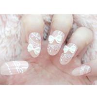 Wholesale acrylic nail display White False Nail Tips fake nails nail tools False French Nail Art Tips Acrylic Makeup H11892