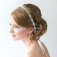 Cheap Wedding Hair Accessory Best Crystal Ribbon Headband