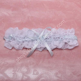 Wholesale Cheap High Quality Bridal Accessories Bridal Garters Sexy White Lace Bow Wedding Garters Handmade Brand New Bridal Garters SH01805