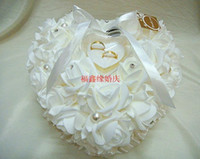 Wholesale 1PCS Wedding Favors Ring Pillow With Transprent Ring Box Heart Design Very Special Unique Ring Pillow Decorations Favor