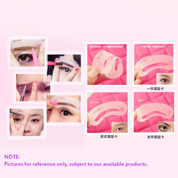 Wholesale Hot styles Eyebrow Stencils DIY Template Makeup Tools Beauty Brow reusable eyebrow Drawing Guide Template Accessories H12122