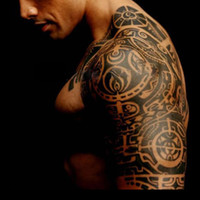 Wholesale 19 cm Temporary Body Tattoo Sticker Last day Delicate Cool Men Body Art Waterproof Totem Sex products Tattoo stickers H12123