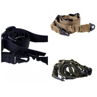 Wholesale NEW Adjustable Dual Point Mission Bungee Hunting Belt Elastic Tactical Sling Strap Army Green Camel Black H11731