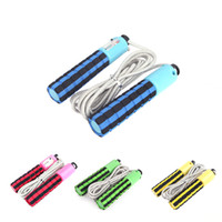 Wholesale 4 Colors Automatic Jump Counter Adjustable Skipping Rope Jumping Exercise Fitness Training Gym Sports Foam Sponge Handle H11983