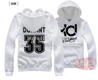 basketball jackets - Cotton Flax Kevin Durant KD basketball jacket hedging hedging sweater hooded casual men brushed hoodies