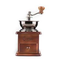Wholesale Manual Coffee Bean Grinder Wood Iron Vintage Adjustable