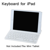 Tomtop aluminum keyboard ipad - White Wireless Keyboard Ultra Slim Aluminum Magnetic Bluetooth Wireless Keyboard Keypad for iPad mini Tablet Tab C1949