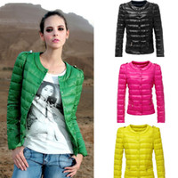 Cheap 2014 Autumn and Winter New Women Short Slim down Jacket,Ladyies Candy Color Coat parka Quilted Button OUTERWEAR Overcoat G0694