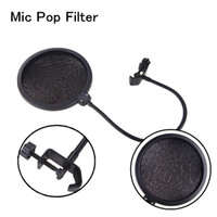 Wholesale Flexible Studio Microphone Filter Wind Screen Mask Shied Dual Layer Gooseneck for Speaking Recording Microphone Accessories I434