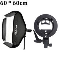 flash light diffuser - Godox Portable cm Studio Flash Softbox Soft Box Diffuser with S type Bracket Bowens Holder for Speedlite Light D1429