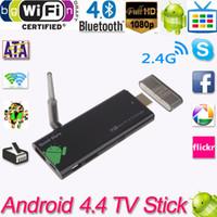 al por mayor antenas de cuadro-CX919 Androide 4.4 Mini PC de la caja TV Quad del palillo 2G / 8GB Bluetooth 1080P con la antena externa de WiFi XBMC DLAN UE / US enchufe V813
