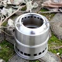 camping stove - Outdoor Camping Wood Stove Portable Solidified Alcohol Stove Stainless Steel Lightweight for Cooking Picnic BBQ H11756