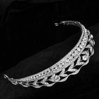 Wholesale Diamond Bride Tiara Crown Crystal Quinceanera Crowns Gorgeous Handmade Rhinestone Bridal Hair Accessories For Wedding