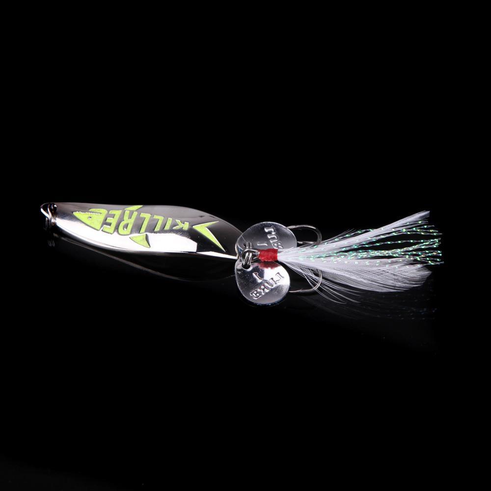 Metal night glow fishing lure hard bait sequin for Best night fishing lures