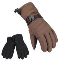 Wholesale Outdoor Waterproof Skiing Women Gloves Snowboard Motorcycle Cycling Windproof Winter Thermal Sports Ski Gloves Black Brown H12271