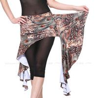 Cheap Tribal Belly Dance Costume Accessories Noble Peacock Printing Waist Skirt Wrap Sash Women's Yoga Belt Hip Scarf t115