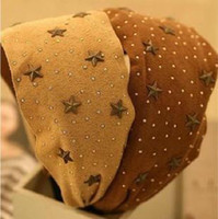 Wholesale China Wide brimmed Suede Cloth Hair Bands Hairpin Small Little Rivet Headband Winter Stars Issuers