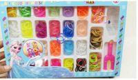 rainbow loom rubber bands - Christmas Frozen Rainbow Loom Bands Fun DIY Loom Rubber Kit Colorful Bracelets Charm Bracelet For Children Toy Gift multicolor