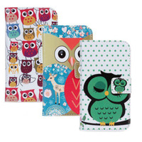 Cheap Owl wallet pu leather case With Stand for sumsung galaxy s3 mini i8190 free shipping