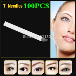 Wholesale JM611D X4 Professional Permanent Makeup Manual Eyebrow Tattoo Needle Blade with pin Needles