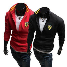 Wholesale Long Sweater Coat Sales - Hot Sale wave of male foreign trade collar coat Korean Slim England men's fashion sport casual sweater coat type is sweat