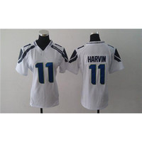 Wholesale Percy Harvin White American Football Jerseys Cheap Football Jerseys New Style Womens Game Football Kits Name Number Sewn On
