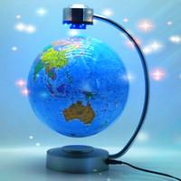 Wholesale inch LED Light Magnetic Levitation Floating Globe anti gravity rotation home decoration gifts crafts