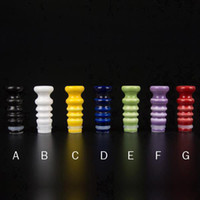 Wholesale Drip tips Ceramic Driptips screw Drip Tip mouthpiece for Atomizer Mouth pieces Vivi Nova DCT glass protank atty plume veil RDA RBA clone