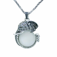 Cheap Mi Zizi fashion diamond crystal white jade elephant sweater chain long necklace new