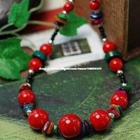Wholesale Mi Zizi original personality DIY delicate coral beads multicolor color shell necklace red female models fine original