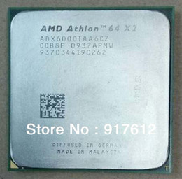 Wholesale K8 CPU AMD Athlon X2 GHz Socket AM2 pin W Dual Core Processor ADX6000IAA6CZ