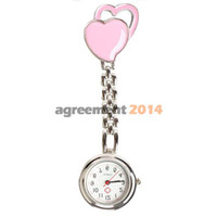Wholesale Chest Pocket Watch Nurse Table Warm Sweet Heart Quartz with Clip ARE4